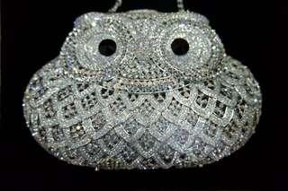 Swarovski clutch owl