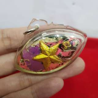 Thai amulets lucky star Eye of Millionaire Amulet in Prai Oil for Gambling & Providence LP. Yen Wat Kang Sadao. Lucky charm Gambling amulet