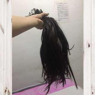 rambut sambung, 137 helai