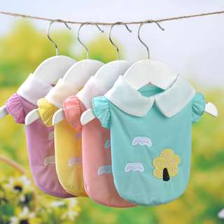 DP雜貨鋪 寵物衣服 新款小清新糖果色襯衫兩腳衣 貓狗衣服 馬爾濟斯/貴賓/博美/吉娃娃
