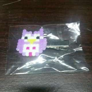 Owl purple hair pin free postage