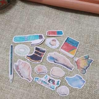 Assortment of mini stickers(non transparent)