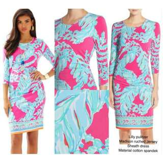 Lilly Pulitzer Madison Ruched Jersey Sheath Dres