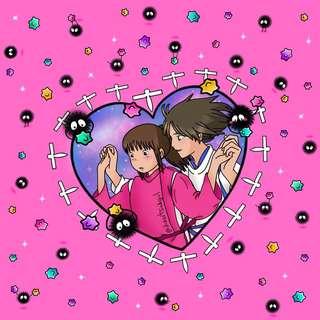 Spirited away - haku and chihiro