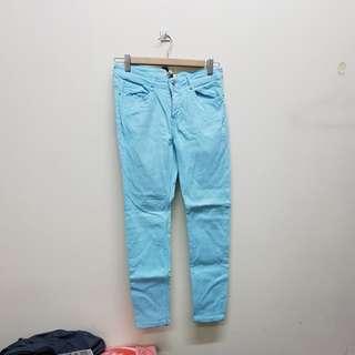 Long light blue jeans
