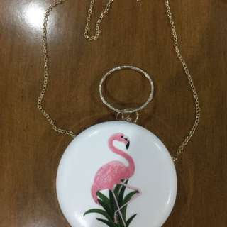 flamingo sling bag
