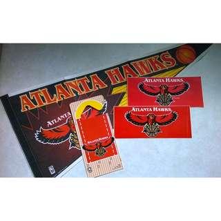 Atlanta Hawks NBA VINTAGE Basketball Merchandise Flag Collection
