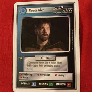 Star Trek The Next Generation CCG 1995 Premiere Edition White Border