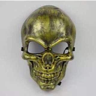 Topeng Muka Pria Plastik Tengkorak / Skull Mask / Topeng Airsoft Game Halloween