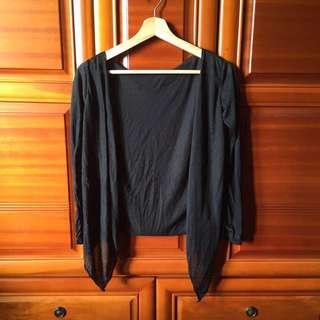 黑色開襟薄外套