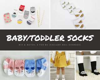 •Promo• Newborn / Infant / Baby / Toddler Socks