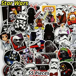 Star Wars Stickers Waterproof  55 Pieces In One Fun Pack Each Sticker Is Of Different Design And Varies In Size Available Now