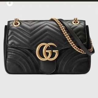 Gucci 專櫃款牛皮手袋