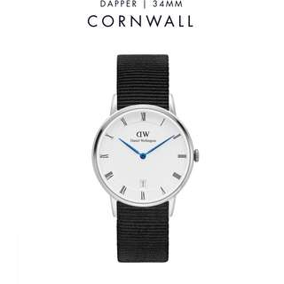 [議價免問] Daniel Wellington Dapper Cornwall 34/38mm Silver Watch