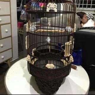 Old rosewood sankok puteh cage