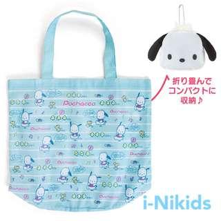 🇯🇵日本直送 - 原裝日版 Sanrio - Pochacco 帕恰狗收納購物袋 / 環保袋