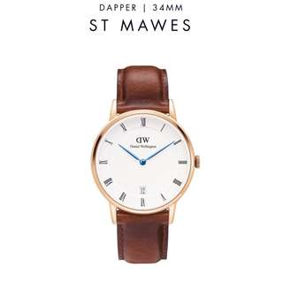 [議價免問] Daniel Wellington Dapper ST MAWES 34/38mm Rose Gold watch
