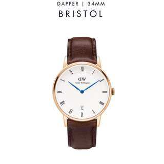 [議價免問] Daniel Wellington Dapper Bristol 34/38mm Rose Gold Watch