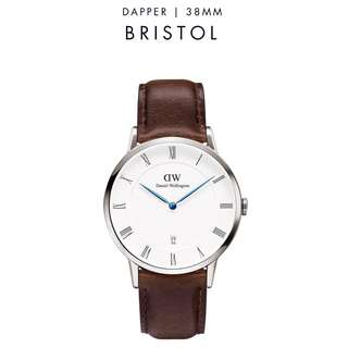 [議價免問] Daniel Wellington Dapper Bristol 34/38mm Silver Watch