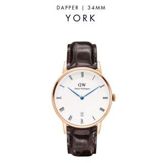 [議價免問] Daniel Wellington Dapper York 34/38mm Rose Gold Watch