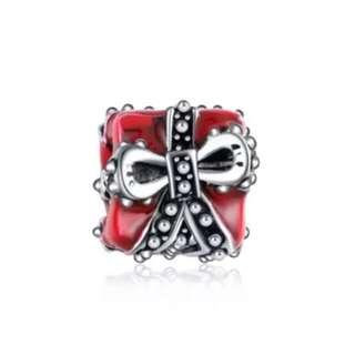 Red Gift Box Present Charm