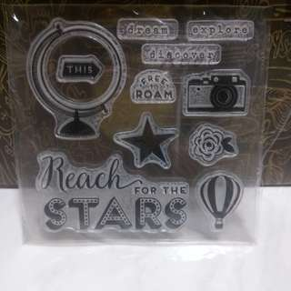BN reach for the stars clear stamps free postage