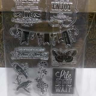 BN life is short Clear Stamps free postage