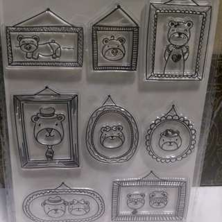 Bn bear clear stamp free postage