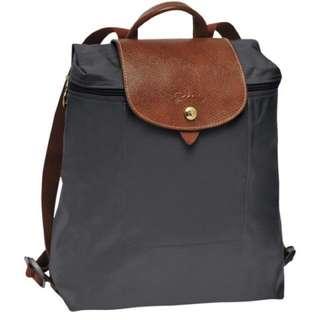 Dark grey Longchamp Backpack