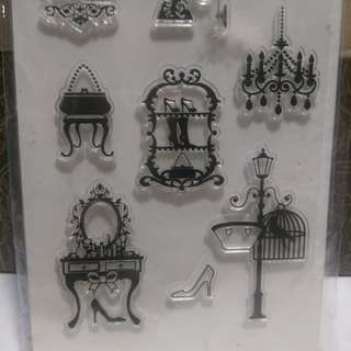 BN Chandelier retro vintage clear stamps free postage