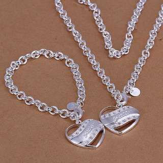 92.5 guess bracelet and necklace