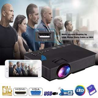 Original UC46+ Portable Mini Projector Full HD 1080P WIFI Multimedia Home Theater Wireless LED LCD Projector HDMI