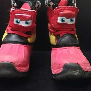 Boys Kids Winter Snow Boots Disney Cars