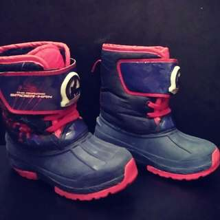 the marvel spiderman blue winter boots kids