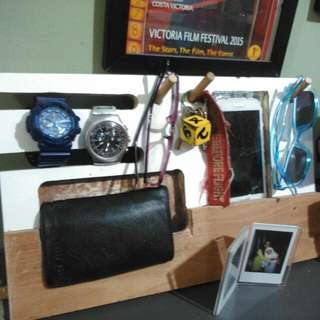 1 Ready Stock Watch Stand, iPhone /SamsungMobile Organizer, HouseKey Color red and white (Custom Made..Your Choice)