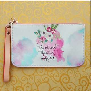 Pouch with bible verse