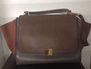 Celine trapeze medium multicolors 2012 with tag, strap and receipt