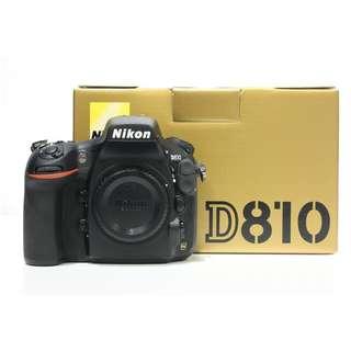 Nikon D810 Body Only (SC: 7K)