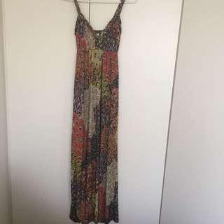 Ladies boho maxi dress, size S