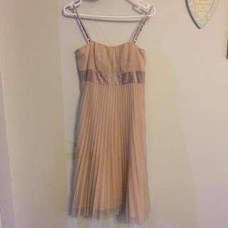 Ladies pleated formal dress