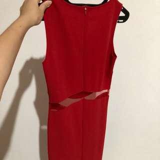 Dress merah panjang
