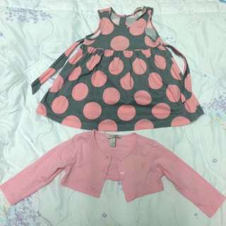 Baby Poney Dress with Cardigan