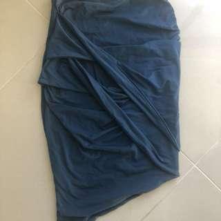 Kookai asymmetrical wrap skirt size 1