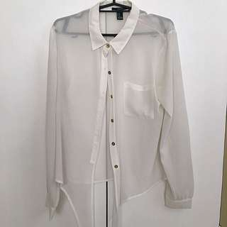 F21 Sheer Blouse