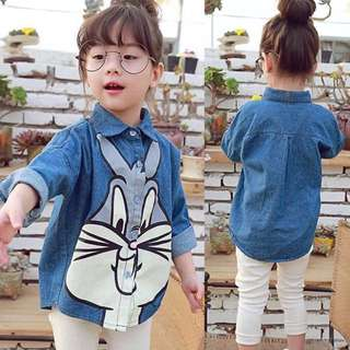 Kids Denim Blouse Denim Dress 100 110 120 130 140