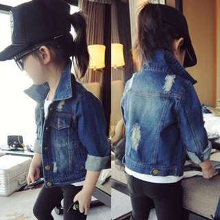 Kids Blue Denim Jacket 100 110 120 130 140