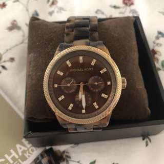 Michael Kors Jet def Tortoise Shell Ladies Watch MK5038