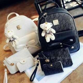 3-in-1 Bag Kasama Na Bear (Black/ White)