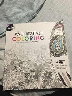Meditative colouring book
