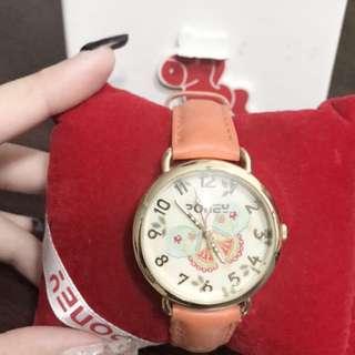 Pony butterfly watch (burnt orange brown)